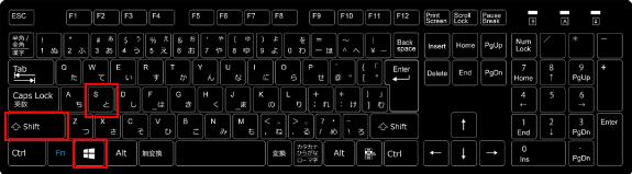 パソコンの画面キャプチャを撮るwindowsキー
