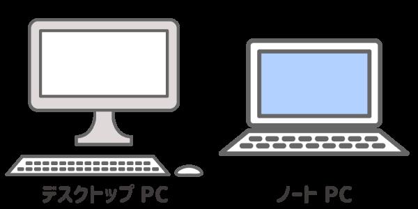 デスクトップとノートPC