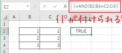 配列数式として{}が付く