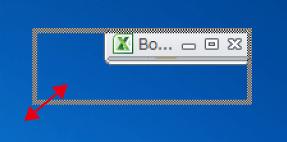 エクセルのウィンドウサイズを変更する