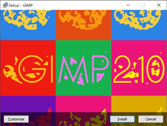 GIMPのインストール画面
