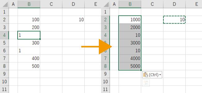 文字列の数値には計算を実行する