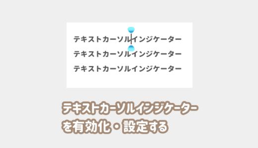 【テキストカーソルインジケーター】カーソルを見やすくする設定の有効化【Windows10】