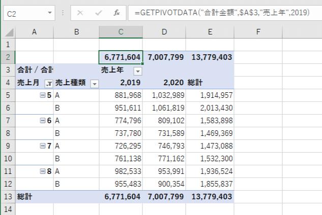 総計のコピーが完了